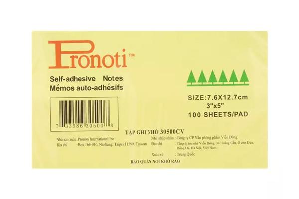 Giấy note Pronoti size 7.6x12.7 cm (3x5)