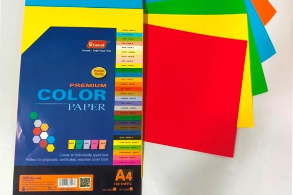 Bìa màu Trí Minh A4 đặc biệt